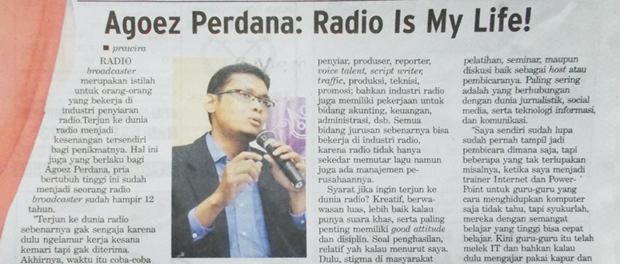 Agoez Perdana : Radio Is My Life!